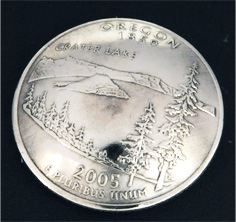 Oregon State Quarter <Screw Back>